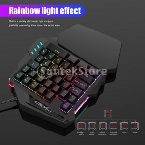 ゲーミングキーボード 35キー 7色 LEDバックライト 片手 有線キーパッド