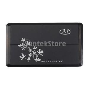 FLAMEER ハードドライブ USB Type-C‐ SATA 外付HDD SSDケース エンクロ...