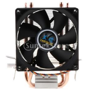 高性能 CPUクーラー 静音 CPU冷却ファン 4ピン 放熱フィン ダブル銅管ラジエーター