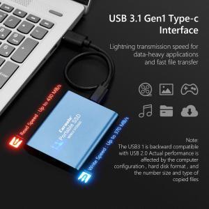 外付けSSD デスクトップラップトップPS4用ソリッドステートドライブ外付けハードドライブSSD耐衝撃性ブルー|stk-shop