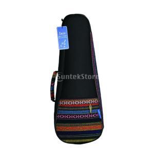 21インチ ウクレレケース バッグ ポケット付き ウクレレ/ハワイギター用 アクセサリー 軽量 耐久...