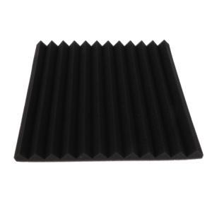 スタジオ アコースティックフォーム 防音パネル 騒音減衰 吸音材質 全4色 - 黒
