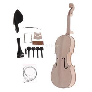 説明:  1セット未完成4/4フルサイズバイオリンフィドルDIYキットバイオリンボディ、指板、弦、橋...