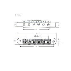 説明:  1セットエレクトリックギターのローラーサドルロックブリッジチューンオーマチックブリッジ文字...