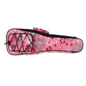 ウクレレバッグ ウクレレケース ギグバッグ 収納ケース 楽器パーツ 全2色 - ピンク, 23インチ
