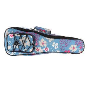 ウクレレバッグ ウクレレケース ギグバッグ 収納ケース 楽器パーツ 全2色 - ブルー, 21インチ