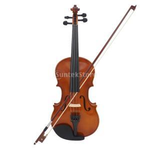 アコースティック バイオリン 初心者 3/4 サイズ ボウ ケース ロジン クリーニングクロス付き