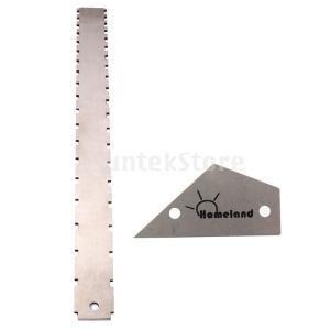 ギターフレットロッカーレベル+ギターネックストレートエッジギター修理メンテナンスツール