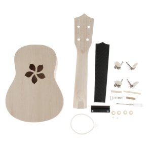 ウクレレ 4ストリング ハワイギター 21インチ ミニギター 指板 サドル ブリッジ ナッツ付き