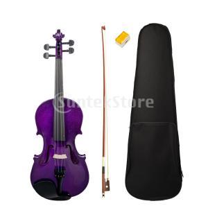 説明: 初心者のためのフル4/4サイズのアコースティックバイオリンキット学生音楽愛好家のギフト。 美...