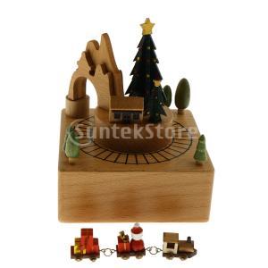 木製オルゴール工芸品巻き上げおもちゃの装飾誕生日プレゼントクリスマスツリー