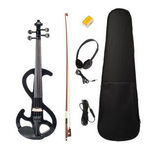 バイオリン奏者のためのキャリーケースボウロジンヘッドフォン付きアコースティックバイオリンフィドル4/...