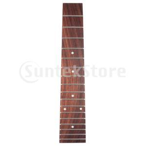 23インチテナーウクレレ弦楽器製作者DIY用品用ローズウッドウクレレフレットボード