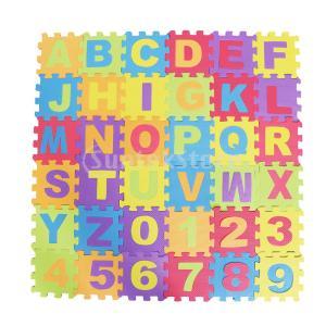 文字数字 発泡マット パズルジョイントマット パズル 子供 プレイマット 教育玩具 アルファベット 36本|stk-shop