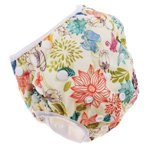 赤ちゃんと幼児のスナップ再利用可能な吸収性水着おむつ花|stk-shop