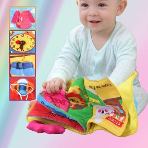赤ちゃん 知育玩具 布絵本 布のおもちゃ ベビー用 布えほん 出産祝い プレゼント キッズ 絵本 布本 7ページ 英語 基本認知 スキル 問題解決 教育おもちゃ|stk-shop