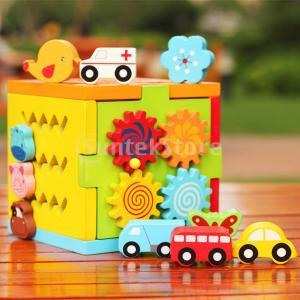多機能 木製 インテリジェンスキューブ 教育玩具 子供 幼児のため ブロック おもちゃ