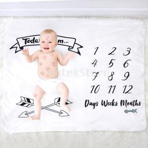 赤ちゃんマイルストーン番号マットブランケット写真の背景の背景布|stk-shop
