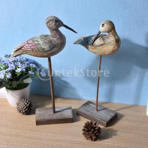 木製の鳥工芸品卓上ディスプレイ彫刻像アート飾り|stk-shop