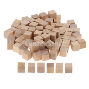 木製パズル ビルディングブロック 積み木 木のおもちゃ ブロック 100個入り stk-shop