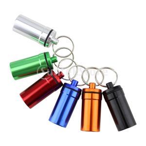 気密ピルボックスのケースホルダーの容器の合金のカプセルのボトルのキーホルダー|stk-shop