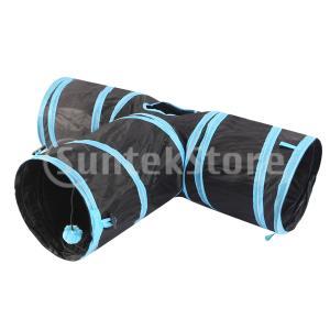説明: ブランドの新しいと高品質。  3つの方法の猫トンネルサスペンションボール。 この楽しいトンネ...