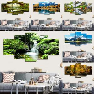 5本のモダンアートオイル風景絵画キャンバスプリント壁アートポスターの装飾|stk-shop