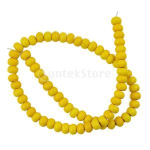 ターコイズ宝石類の1ストランドrondelle spacer loose beads finding...