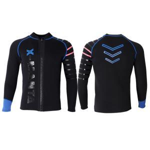ウェットスーツ タッパー ジャケット メンズ 3mm ダイビング フロントファスナー 保温性優れる  全2色5サイズ|stk-shop