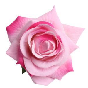 10個の色様々な色人工ベルベットは、花の頭の装飾をバラ stk-shop