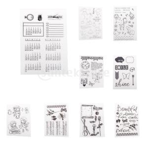 Scrapbooking DIYのアルバムカードのためのシリコーンクリアラバースタンプ|stk-shop