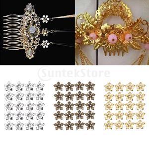 100個の宝石製作のための20ミリの細身の魅力のペンダントフラワースペーサー|stk-shop