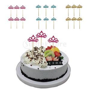6つの駒の形のケーキトッパーの誕生日パーティケーキのピックを感じた|stk-shop