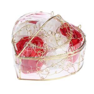 母の日のための6個のバラ石鹸の花びらのギフトボックス