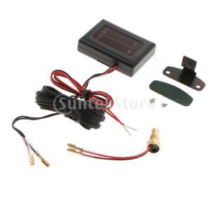 センサー付きdc12v  -  24v車のデジタル電圧計水温ゲージメーター