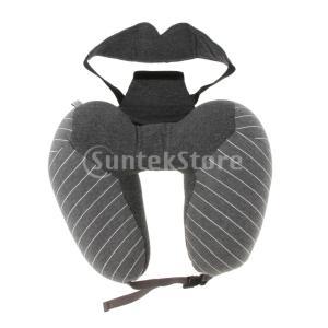 説明:  2 in 1デザインでは、枕とアイマスクセットは、背中の痛み、快適な首のサポートと完璧な睡...