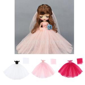 ファッションストラップレスウェディングドレスプリンセススカート1/6人形accs
