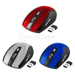 PC用2.4Gワイヤレスマウスミニコードレス光学マウス6Button 1800DPI|stk-shop