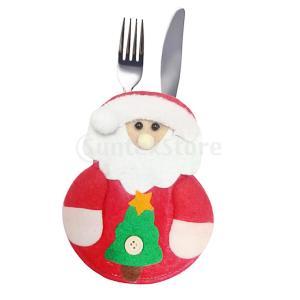 クリスマステーブルウェアバッグディナーフラットウェアホルダーの装飾