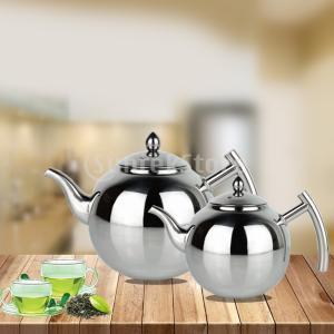 ステンレス鋼ティーポットコーヒー茶ケトルルーズリーフティーポットと注入器|stk-shop