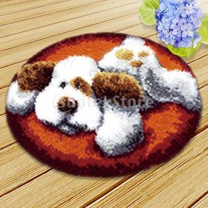 ラッチフックキットカーペットラッチフックラグキットクッションの刺繍|stk-shop