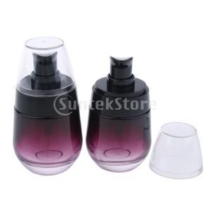 2本30MLガラス香水ボトルポンプスプレーメイク用バイアル