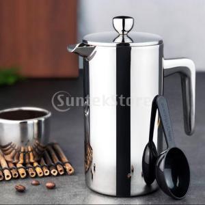 説明: ステンレス製フレンチプレスコーヒーポットは、割れや破損の危険性を排除します。 断熱された二重...