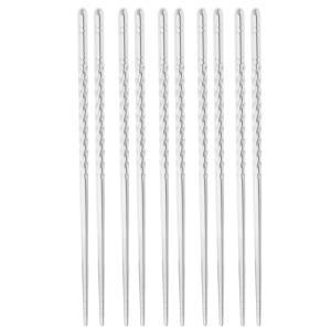 5対のステンレス鋼の箸EcoFriendlyスクエア食器|stk-shop