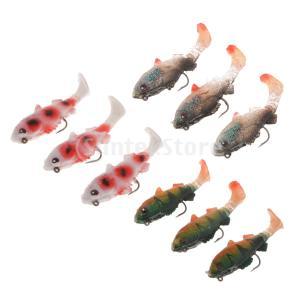 3本の柔らかい餌Tテール人工餌鯉の釣りはルアーを沈める stk-shop
