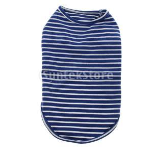 説明: ペット快適な春夏のTシャツ。 綿製で、とても快適で柔らかい。 クラシックなストリップシャツ3...