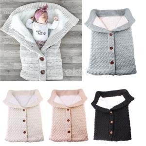 ベビーニットスワドルラップスワドルブランケット冬の暖かい寝袋|stk-shop