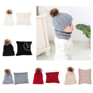 幼児の赤ちゃん新生児冬のかぎ針編みの帽子ビーニーキャップスカーフセット|stk-shop