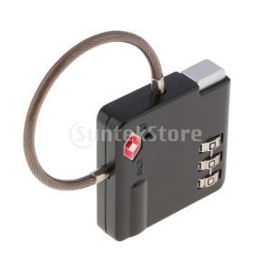 TSA荷物トラベルスーツケースコードロック3桁の組み合わせ南京錠SKG  -  529B stk-shop