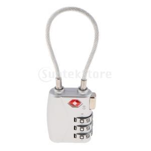TSA荷物トラベルスーツケースバッグコードロック3桁の組み合わせ南京錠TSA719 stk-shop